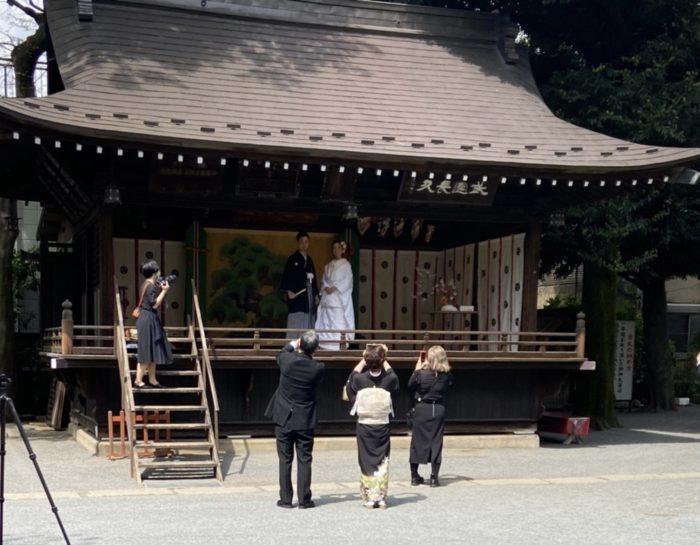 七社神社での婚礼